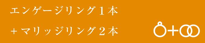エンゲージリング1本+マリッジリング1本